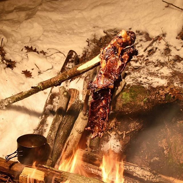 Deer backbone roasting over the fire. This can make anyone feel like a caveman. . . Credit to @joerobinetbushcraft . . #Grilling #GrillPorn #GrillLife #GrillMaster #Meat #MeatPorn #MeatLover #MeatAndFire #BBQ #BBQLife #BBQPorn #Barbecue #ForkYeah #Carnivo http://riflescopescenter.com/nikon-monarch-review/