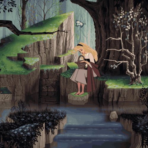 I wish I was like Sleeping Beauty, and when I wandered around, all the forest animals would appear... This is such a charming little GIF!