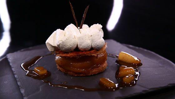 - Pâte sablée noisette- Pommes au four- Réalisation