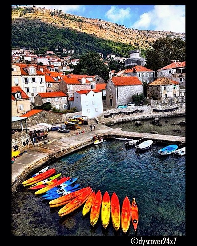 Kayaks in the Cove - Dubrovnik, Croatia