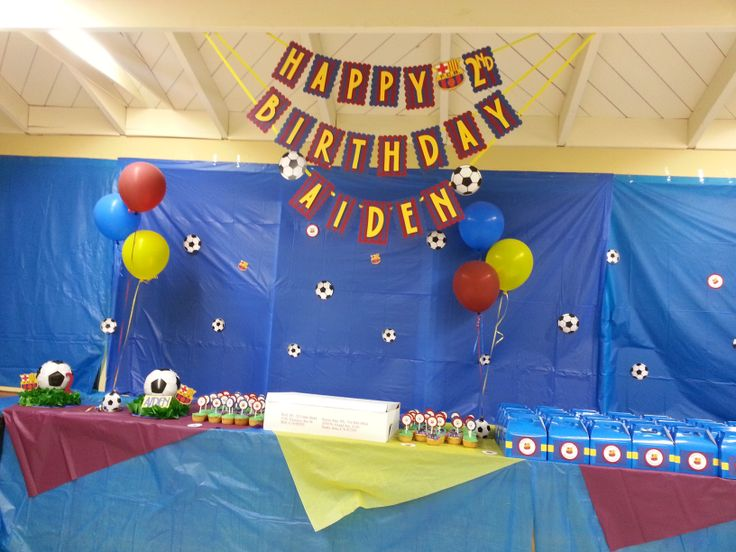 Fc Barcelona Theme Birthday Party Decor Danis 7th