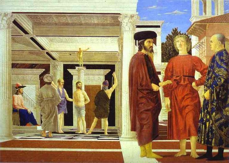 """Piero della Francesca """"Flagellation""""(58x81) Galería Nacional de Urbino."""