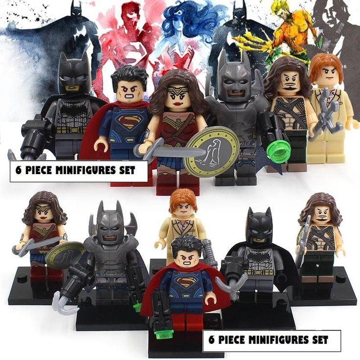 Batman+vs+Superman+Dawn+of+Justice+DC+Marvel+6pc+Mini+Figures+Legos+Block+Build+Set