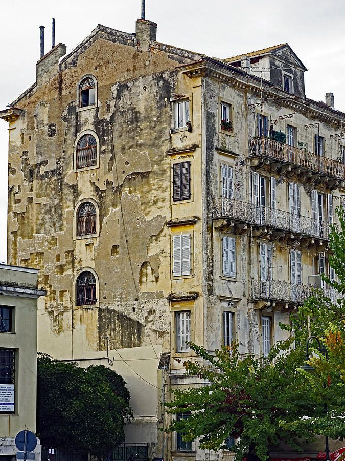 Old Apartment Building In Corfu Greece Photograph