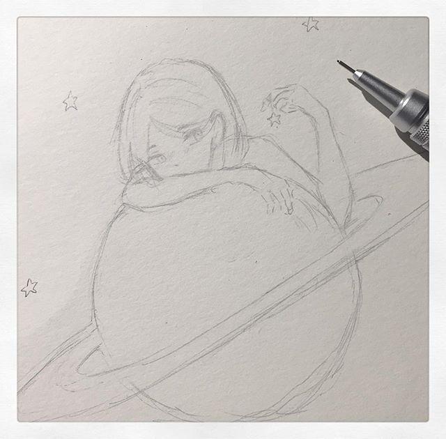 Ein sehr schneller Gekritzel #doodle #art #oc #anime #drawing #sketch