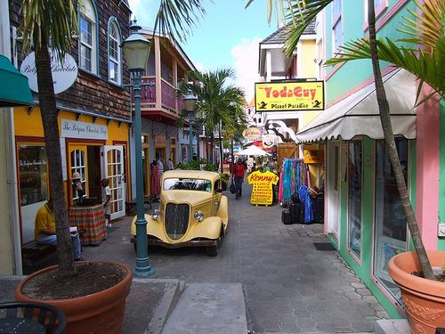 Love shopping on Front Street in Philipsburg,  the capital of St. Martin