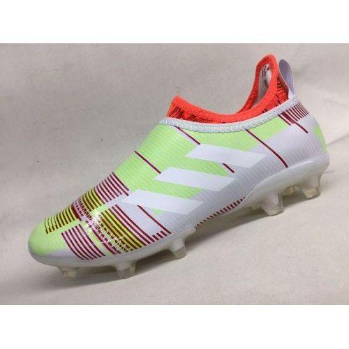 Scarpe Calcio 2017 Adidas Glitch 17 FG Bianca Verde Arancia Buona #futboloutfitwoman