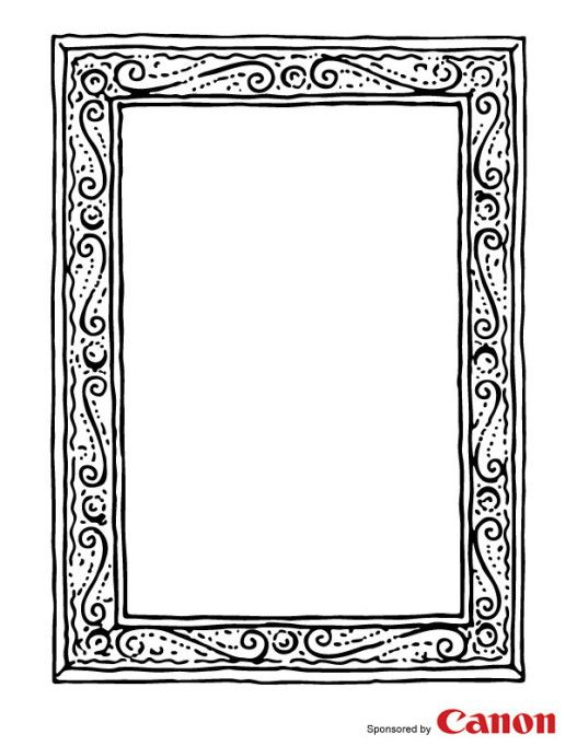 Craft Templates For Kids A Good Frame Template Can Be Used So Many Things