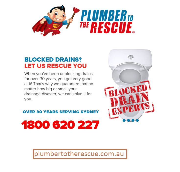 If you're looking for a good Blocked Drain Plumber in Sydney. Call Plumber To The Rescue @ 1300 360 335. We are able to clear blocked drains 24 hours, 7 days.