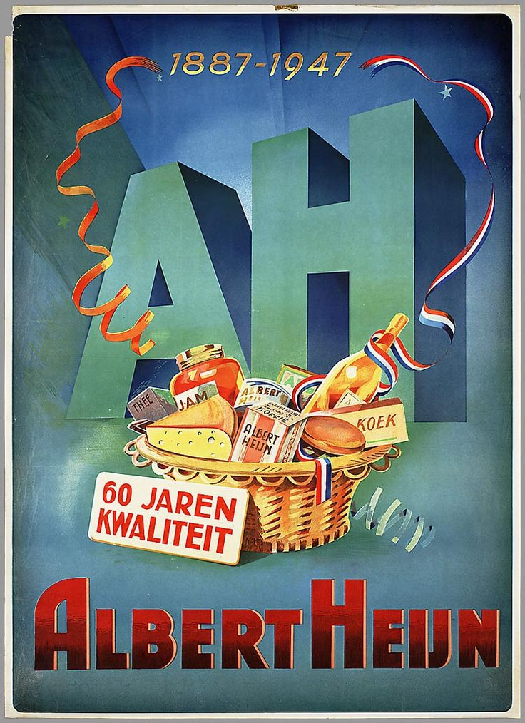 1887 - 1947 AH. 60 Jaren met Albert Heijn. - #junkydotcom Nederland Holland The Netherlands