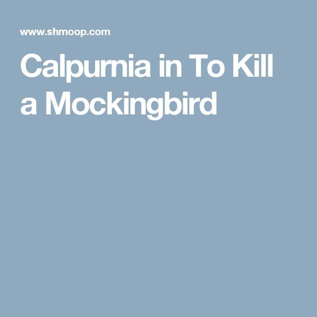 calpurnia how to kill a mockingbird