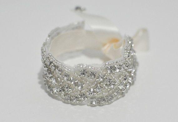 Bridal Jewelry Rhinestone Wedding Bracelet by TangCreations