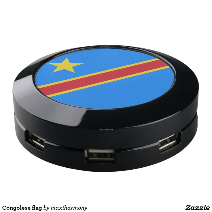 Congolese flag USB charging station