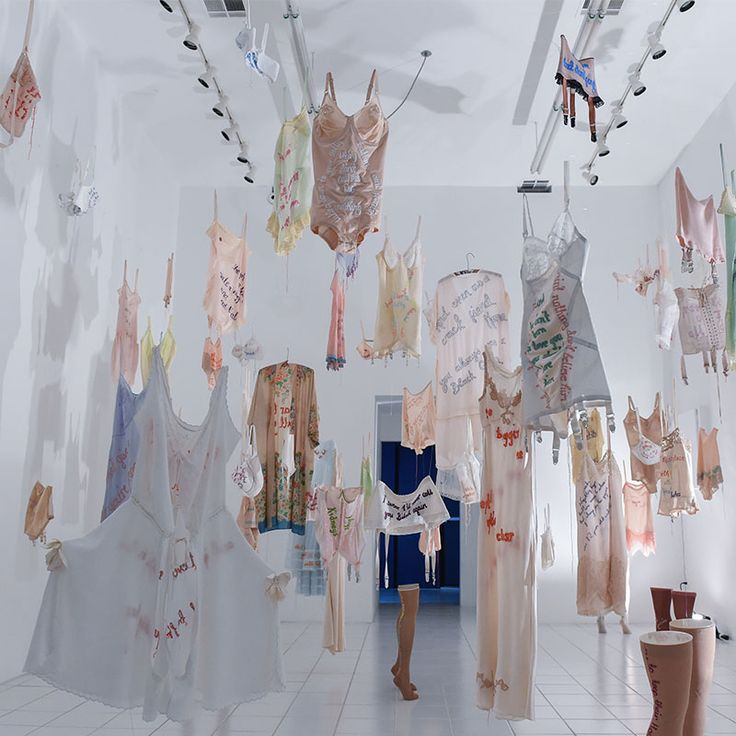 British artist Zoë Buckman, who has been fascinated with the idea of femininity…