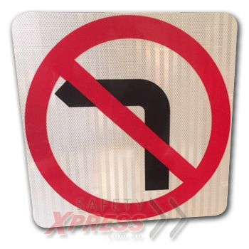 No Left Turn Sign (symbolic) $42.90 (Inc GST)