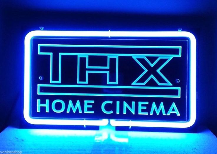 "SB152 THX Home Cinema Shop Bar Decor Display Neon Blue Light 3D Sign 11""x6.5"" | eBay"