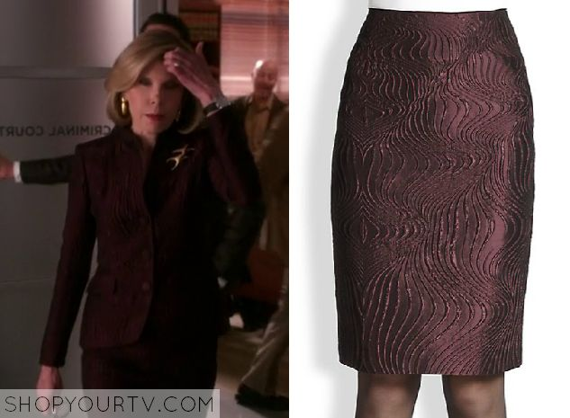 The Good Wife: Season 6 Episode 15 Diane's Burgundy Skirt