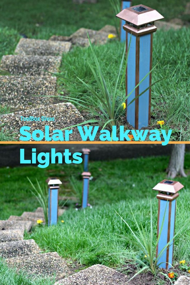 Create your own Solar Walkway lights, to guide you into your home this summer! #lights  #solar #DIY #garden #walkway #yard