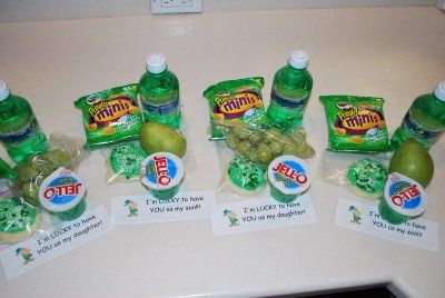 "St. Patrick's Day Lunch....include note ""I'm lucky to have you as my son/daughter""....cute!"