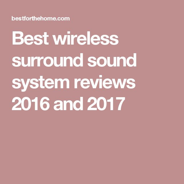1000 Ideas About Surround Sound Systems On Pinterest