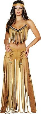Sexy Cherokee Hottie Native American Indian Babe Halloween Costume Adult Women