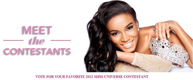 Online Voting Results of Miss Universe 2012