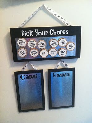 Pick your chores board for the kids: great idea