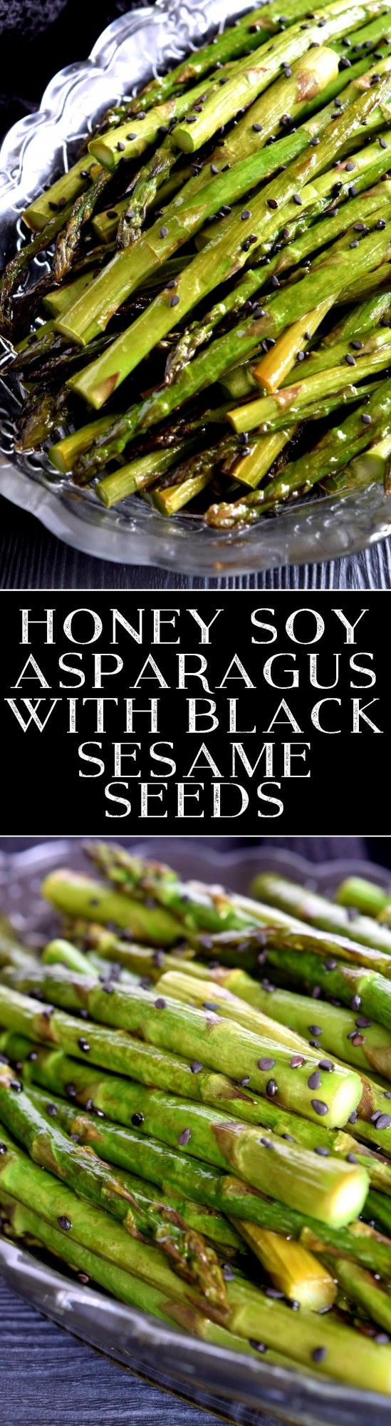 Honey Soy Asparagus with Black Sesame Seeds - Lord Byron's Kitchen
