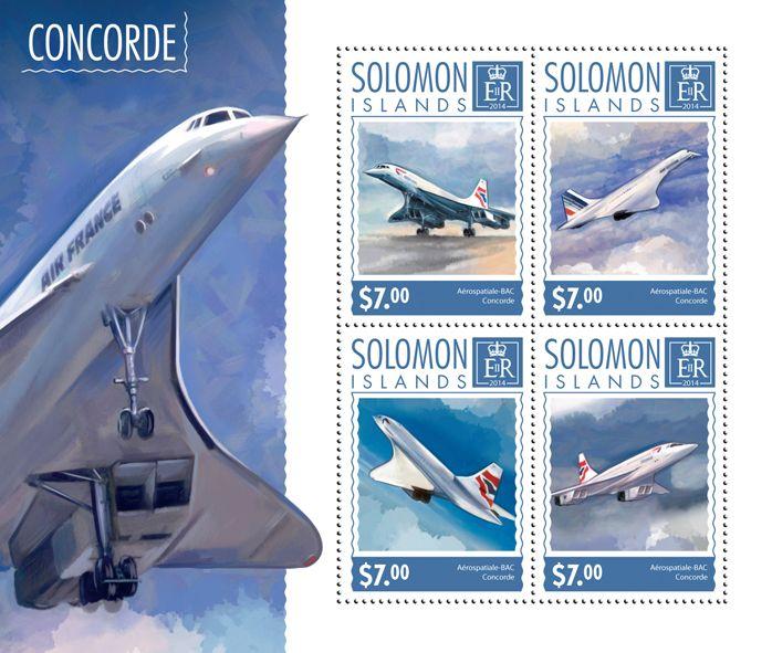 Post stamp Solomon Islands SLM 14603 aConcorde (Aérospatiale-BAC Concorde)