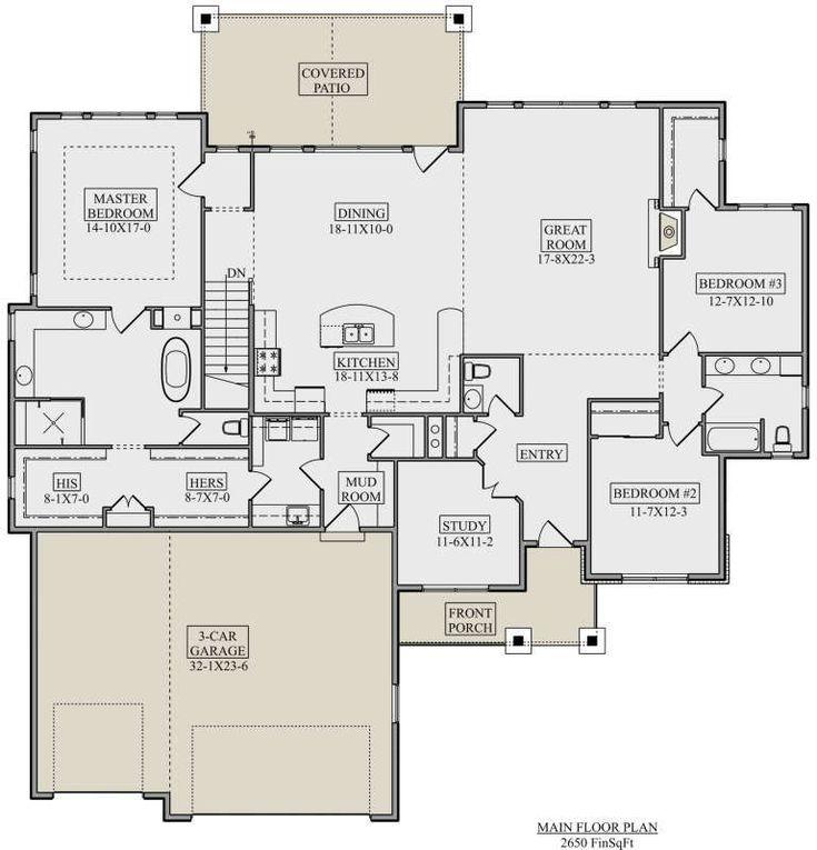craftsman plan 2 650 square feet 3 bedrooms 2 5