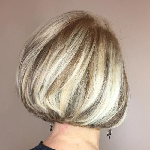 Graded bob with chunky highlights