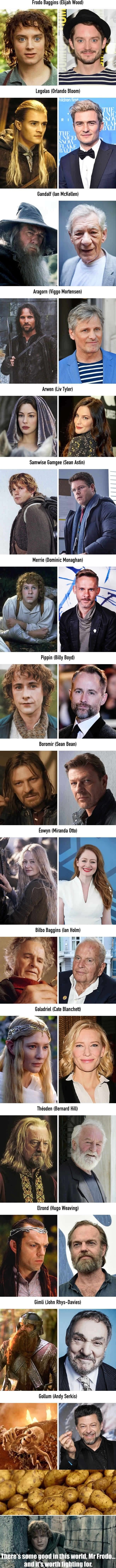The Lord of the Rings 15 Years Later, they haven't even aged :0 except jean bean, but he looks more epic this way