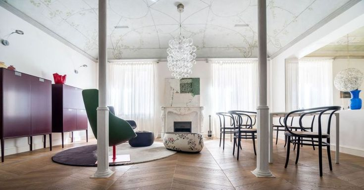 Projects:   Iconic design in an eighteenth century property |   Contemporary design and period features comes together in an eighteenth century apartment.
