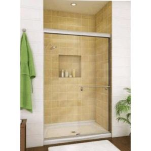 "Home Hardware - Clear 2 Panel Shower Door for 48"" x 32"" Shower"
