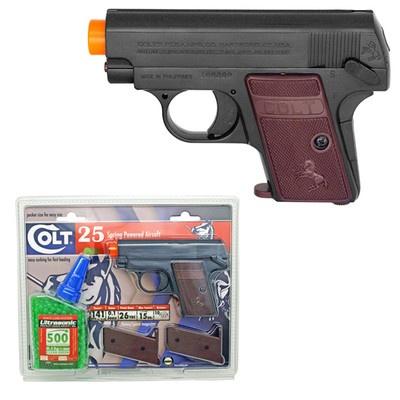 Ultrasonic .12g 6mm Airsoft BBs with Bonus Colt 25 Pistol-JM ...