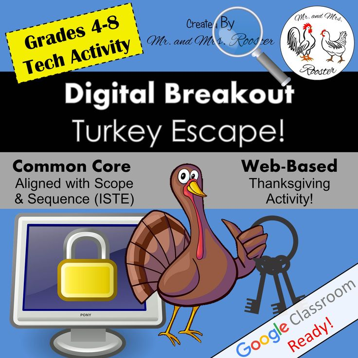 Digital | Breakout | Website | Thanksgiving | Turkey | Escape | Class | Student | Teamwork | Tech | Internet | Activity | Clues | Lock | Locked | Escape | Room | Challenge | Mr and Mrs Rooster