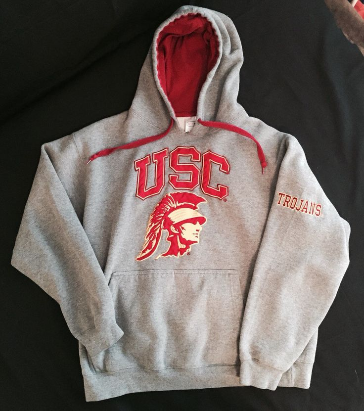 USC College Hoodie - early 90's - size Large 80/20 blend by LucysVintage72 on Etsy