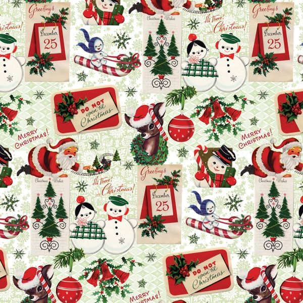 413 best Christmas Vintage-Wrapping Paper & Backgrounds images on ...
