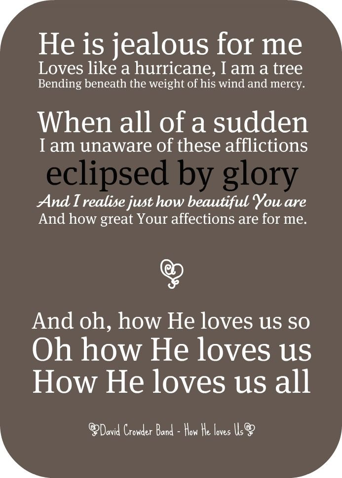 Oh How He loves Us - David Crowder Band