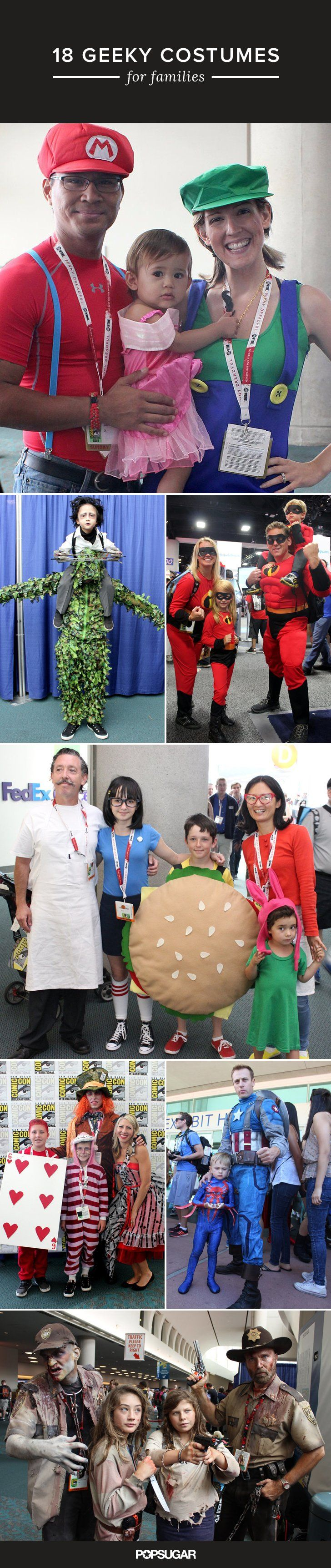 Have a geeky family? Then these Halloween costume ideas are for you!