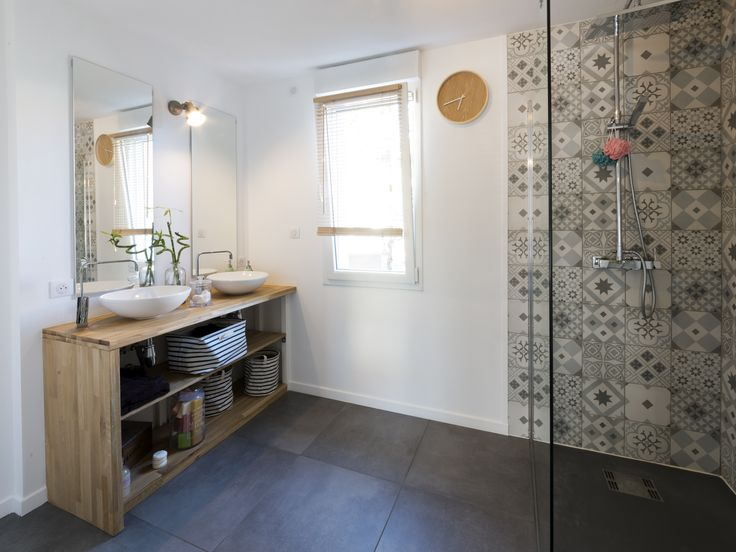 17 best Carrelage images on Pinterest Tile murals, Bathroom and Murals - salle de bain design douche italienne