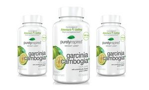 Groupon - 1 Bottle of Purely Inspired Garcinia Cambogia Tablets or 2 Bottles with 1 Free in Online Deal. Groupon deal price: $9.99