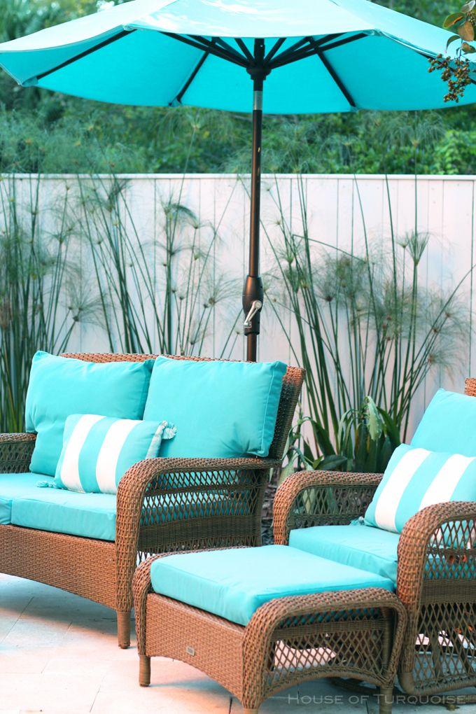 turquoise patio set Jane Coslick 406