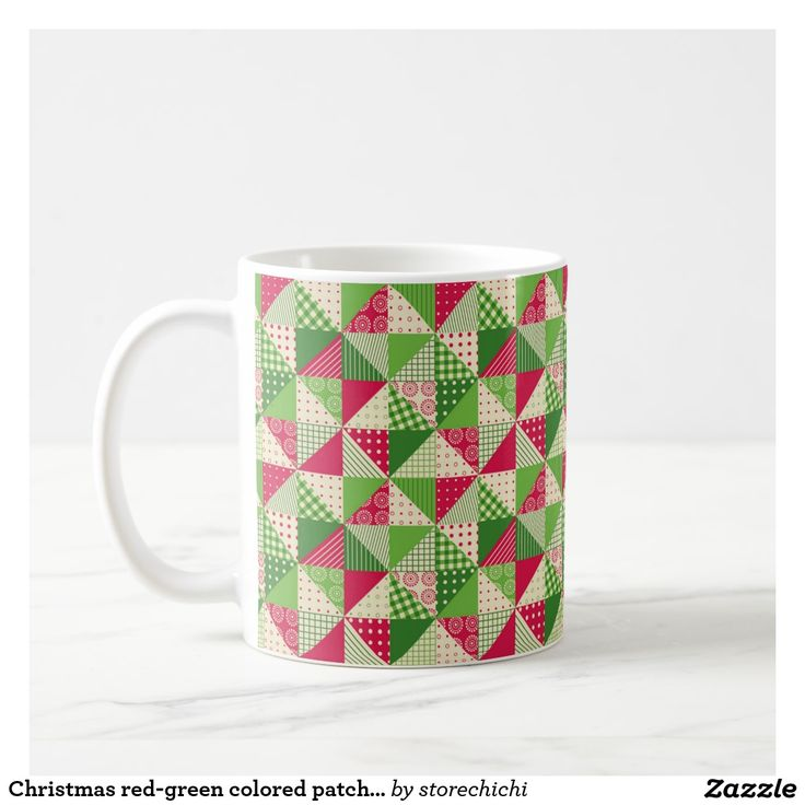 Christmas red-green colored patchwork pattern.