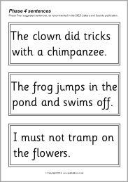 Phase 4 sentence cards - black and white (SB10559) - SparkleBox