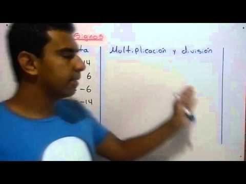 Ley de signos para la suma, resta, multiplicación y división de números enteros. - YouTube