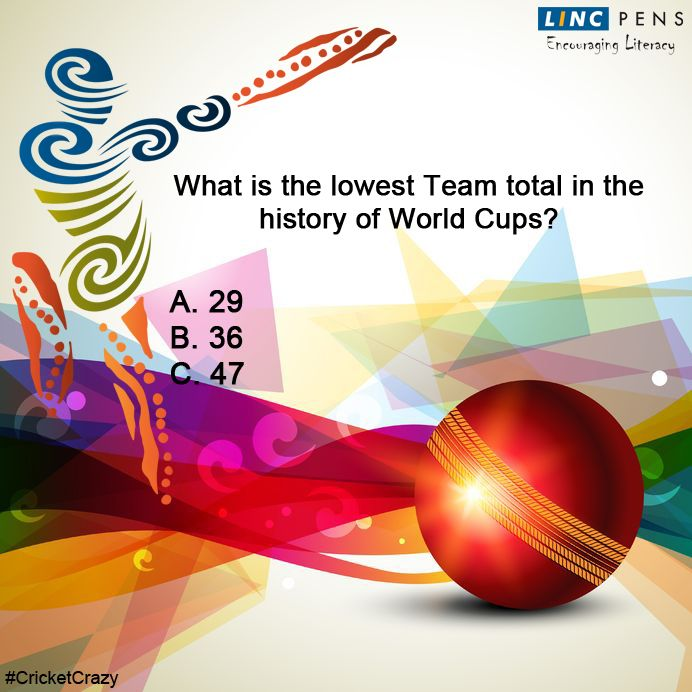 Question #12 ‪#‎CricketCrazy‬ ‪#‎WorldCup15‬