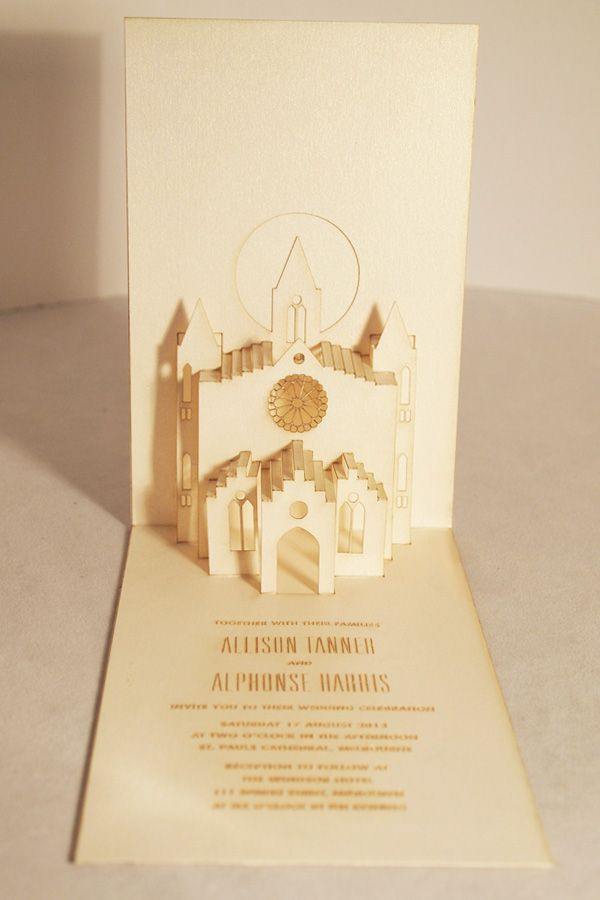 pop up church wedding invite 27 best