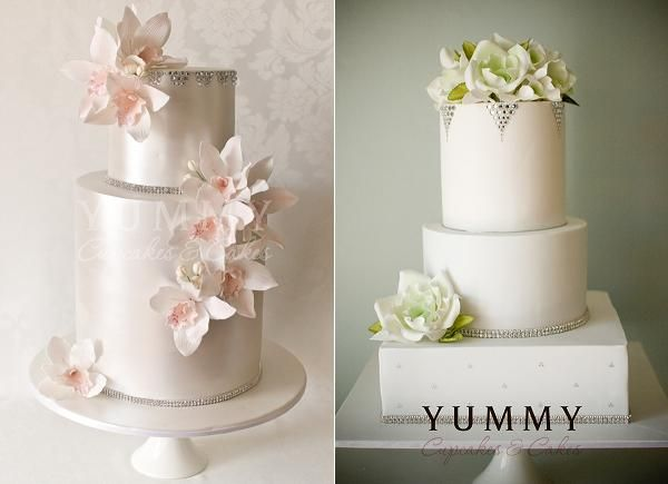Jewelled wedding cakes from Yummy Cupcakes & Cakes