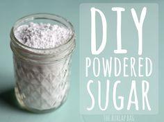 DIY powdered sugar - The Burlap Bag